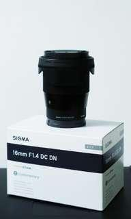 Sigma 16mm f/1.8 for Sony
