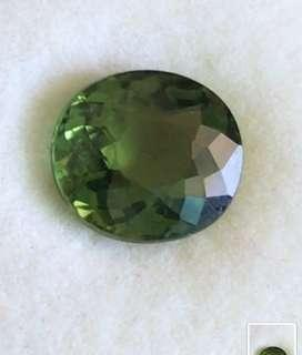 1.58ct Silky Green Oval Tourmaline - VVS