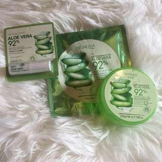 Paket 3pcs Bioaqua Series Masker Lipgloss Aloevera