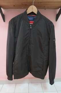 Zara Man Olive Green Bomber Jacket