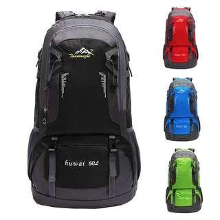 60L Waterproof Camping Outdoor Travel Backpack Bagpack