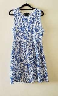 Dorothy Perkins Blue Skater Dress uk14