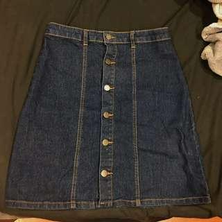 Denim a line skirt
