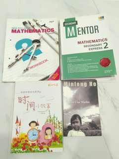CNY SPECIAL secondary 2 math mentor workbook chinese story clay marble book instock