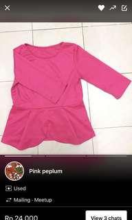Pink peplum