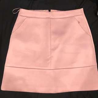 A line pink skirt