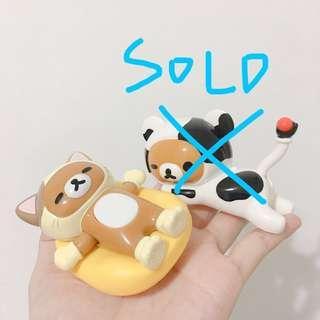 日本麥當勞懶懶熊玩具 拉拉熊玩具 公仔