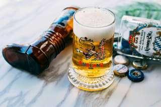 德國Einsiedler「英倫1996年歐洲足球錦標賽」紀念玻璃啤酒杯0.25L