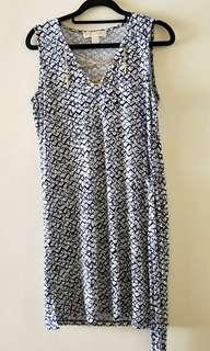 Michael Kors Blue dress with chains