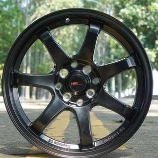 Velg Murah GTR Sport 994 Ring 16 x 7 BLACK