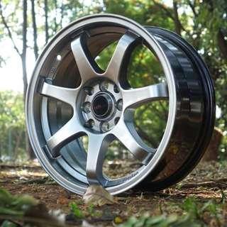 Velg Murah GTR Sport 994 Ring 16 x 7 HYPER BLACK