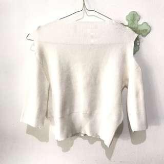 Knit White Top
