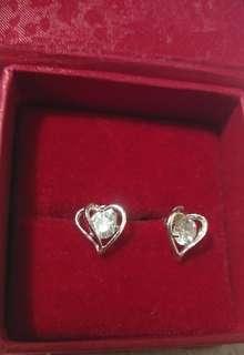 Single stone Silver 925 stud earrings