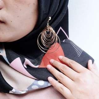 Anting hijab hooks korea