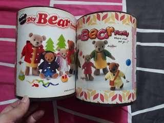 #blessing 2 tins of Teddy Bear Self DIY Craft Material Set