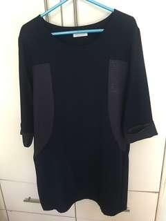 🎈韓國寶藍中袖連身裙