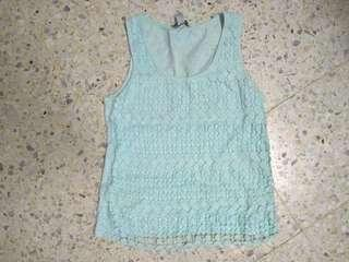 Woman mint colour singlet - only wore once, good condition