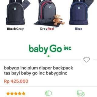 Diaper bag, tas bayi baby go inch