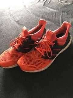 Adidas ultra boosts fluro orange