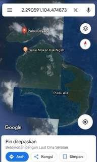Pulau Dayang & Pulau Aur Malay Rezab