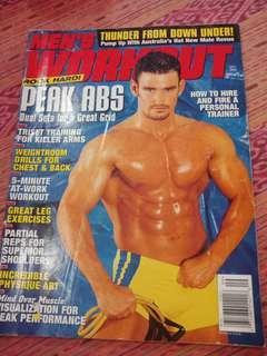 Majalah Import MEN'S WORKOUT edisi Sept 2000
