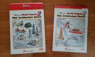 World architecture series (golden gate bridge, taj mahal,  windmill)