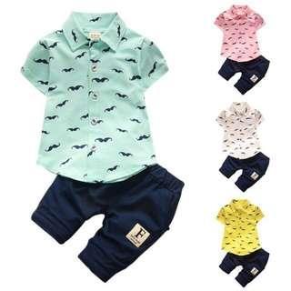 polo shirt and pants terno