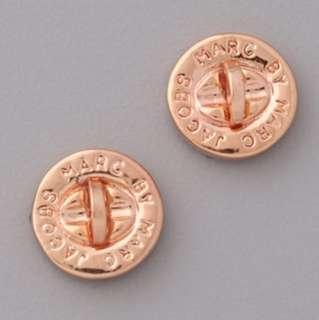 💚現貨💚Marc by Marc Jacobs Turnlock Stud Earrings Rose Gold 玫瑰金耳環