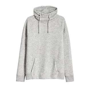HnM Sweatershirt Chimney Collar Grey