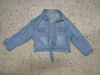 Fake Denim crop jacket