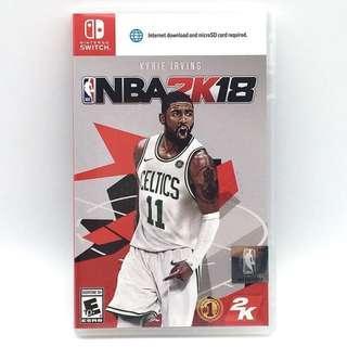 (中古) 原裝美版 Nintendo Switch NS Game NBA 2K18 籃球運動遊戲 (#特價)