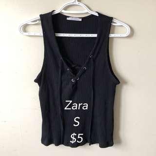 Zara lace up tank