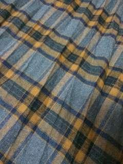 [New] British student style checkered middle long skirt