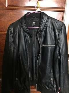 🚚 Net黑色皮衣外套