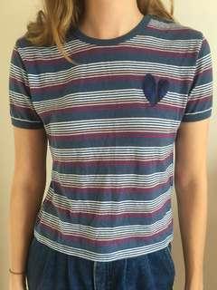 Blue striped tshirt Cotton On