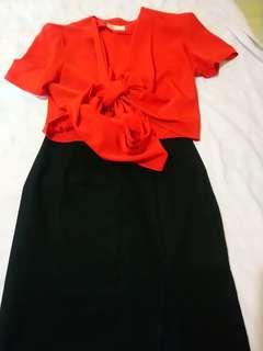 Karimadon tops and skirts(combination of red and black skirts)