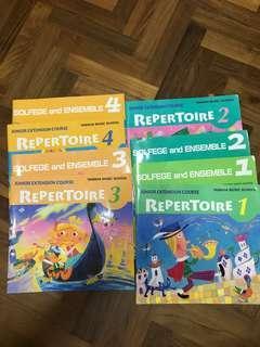 Yamaha solfege n Repertoire books