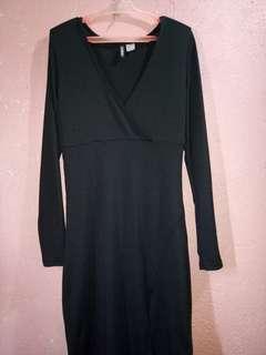 H&M knitted Black Dress