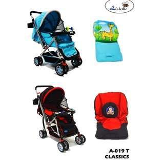 Stroller Labeille Classic Free Alas Stroler Reversible Dorongan Bayi