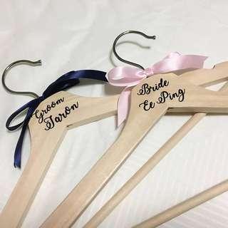 Personalised wedding or bridal hanger