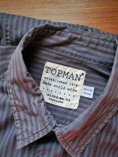 Topman Striped Shirt in Purplish Gray