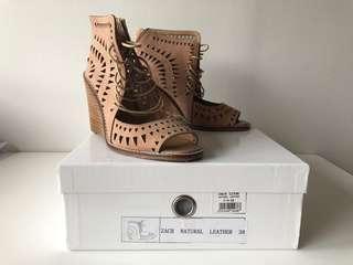 Brown leather sandles