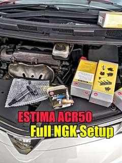 ESTIMA ACR50 ignition coil and spark plugs ( Full NGK Setup )