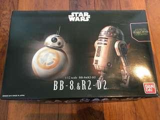 StarWars BB-8 & R2-D2 figurines 1/12 scale