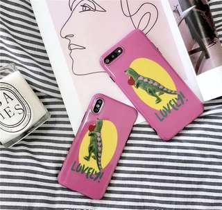 粉色潮流恐龍 iPhone X/XS 手機殼 軟殼 全包邊