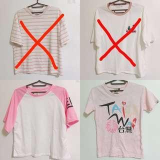 🚚 出清一件80 粉色短袖上衣T恤