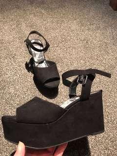 Open black shoes