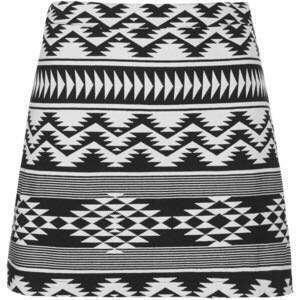 Topshop monochrome Aztec A line skirt