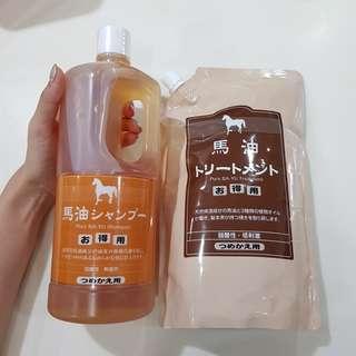 Pure BA-YU Shampoo & Treatment 1000ml (马油洗发精和头发护理)