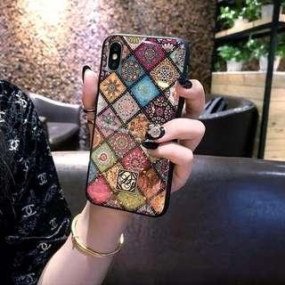 亮片花磚 iPhone X/XS 手機殼 軟殼 全包邊
